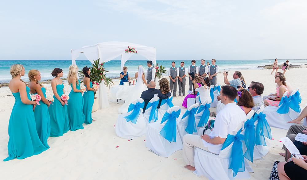 Mexico Beach Wedding Photo