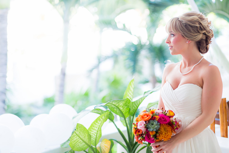 Bridal portrait before wedding