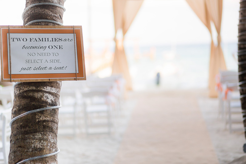 Wedding ceremony location at Indigo beach club playa del carmen