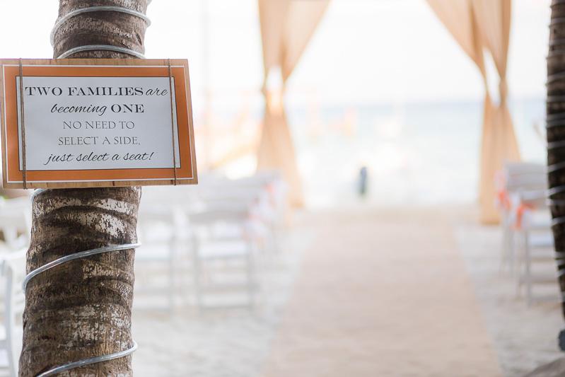 Wedding ceremony location at Indigo beach club playa del carmen