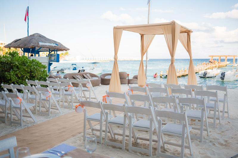 Wedding ceremony location at Indigo beach club, playa del carmen