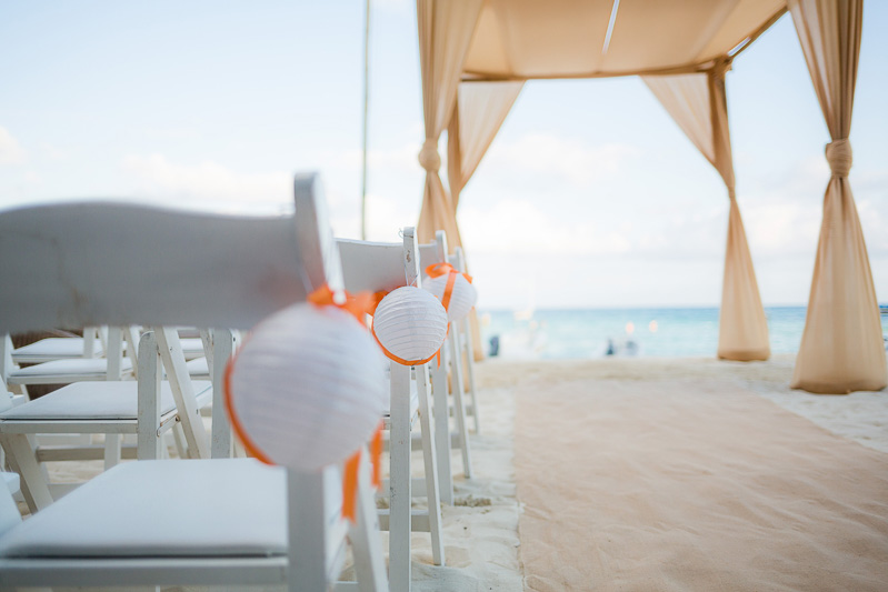 Close up of chairs at indigo beach club in Playa del Carmen