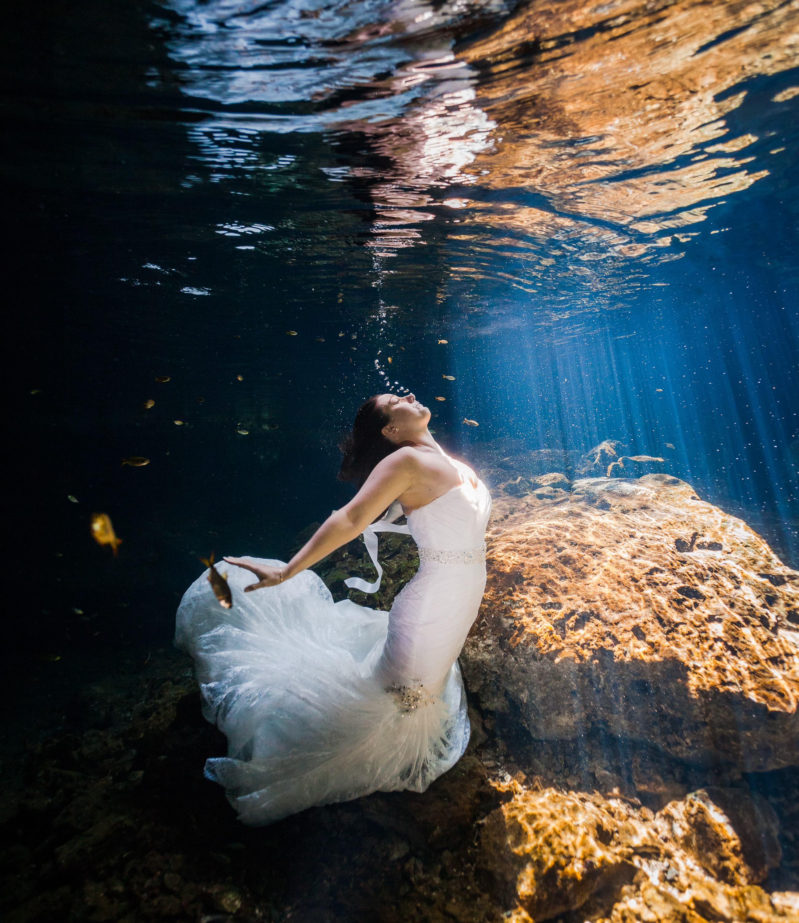 Beautiful Underwater trash the dress
