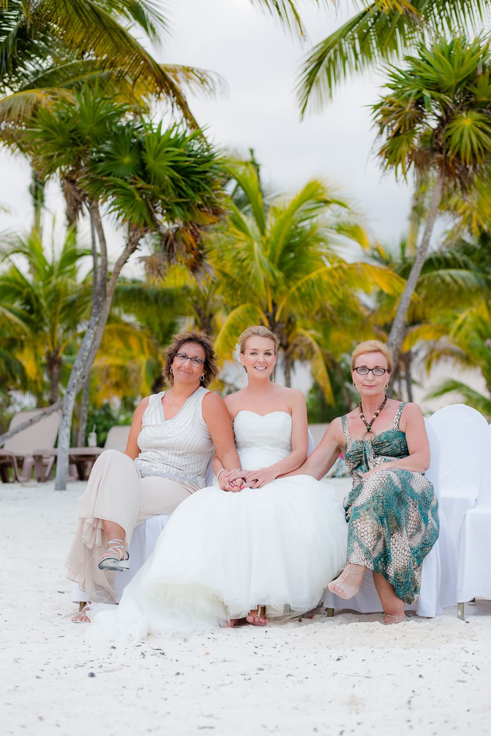 Mothers and Bride at Wedding in Mexico.