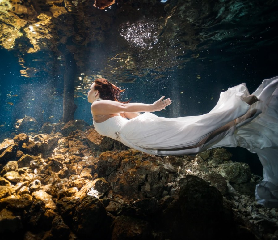 Mayan Cenote Trash the Dress