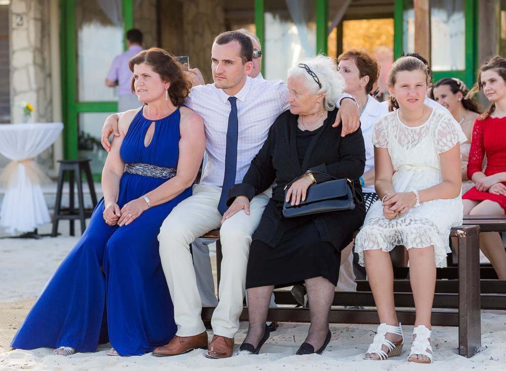 Guests at wedding ceremony in Tulum