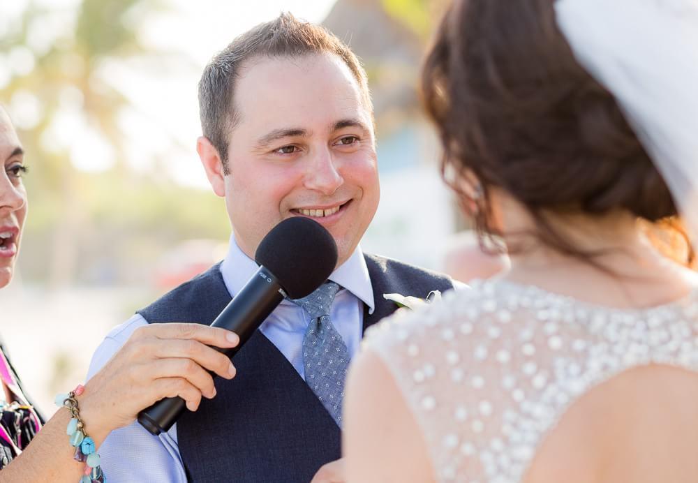 Wedding ceremony at El Pez Tulum