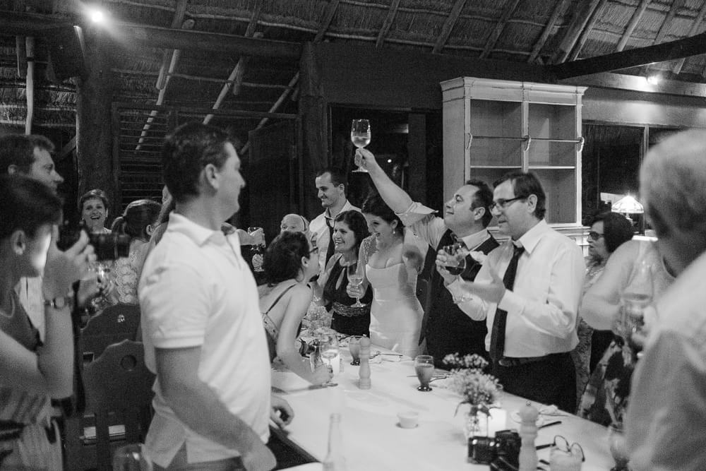 Excitement at wedding in Tulum