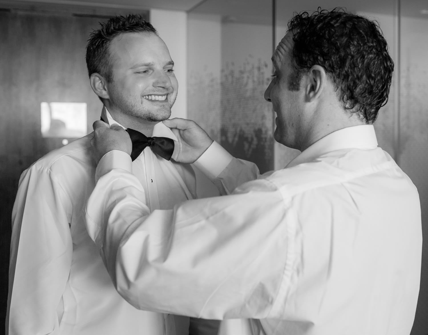 Groom getting ready at Secrets the Vine Cancun