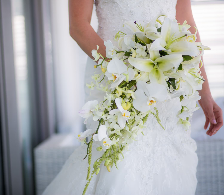 Details of flowers at Secrets the Vine Cancun wedding
