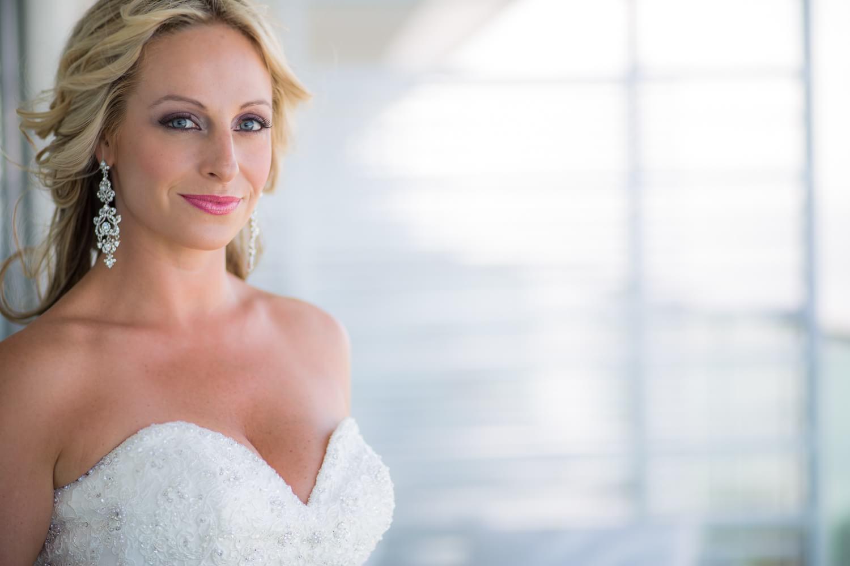 Portrait of Bride at Secrets the Vine Cancun Wedding