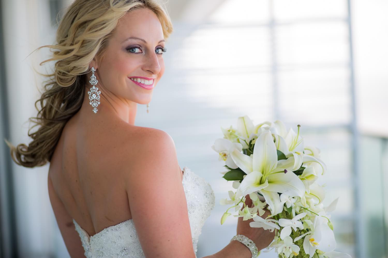 Portrait of bride in Cancun