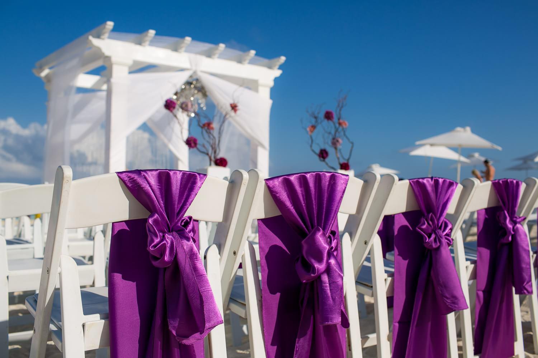 Chairs at Secrets the Vine Cancun wedding.