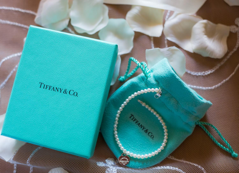 Detail of bracelet at wedding