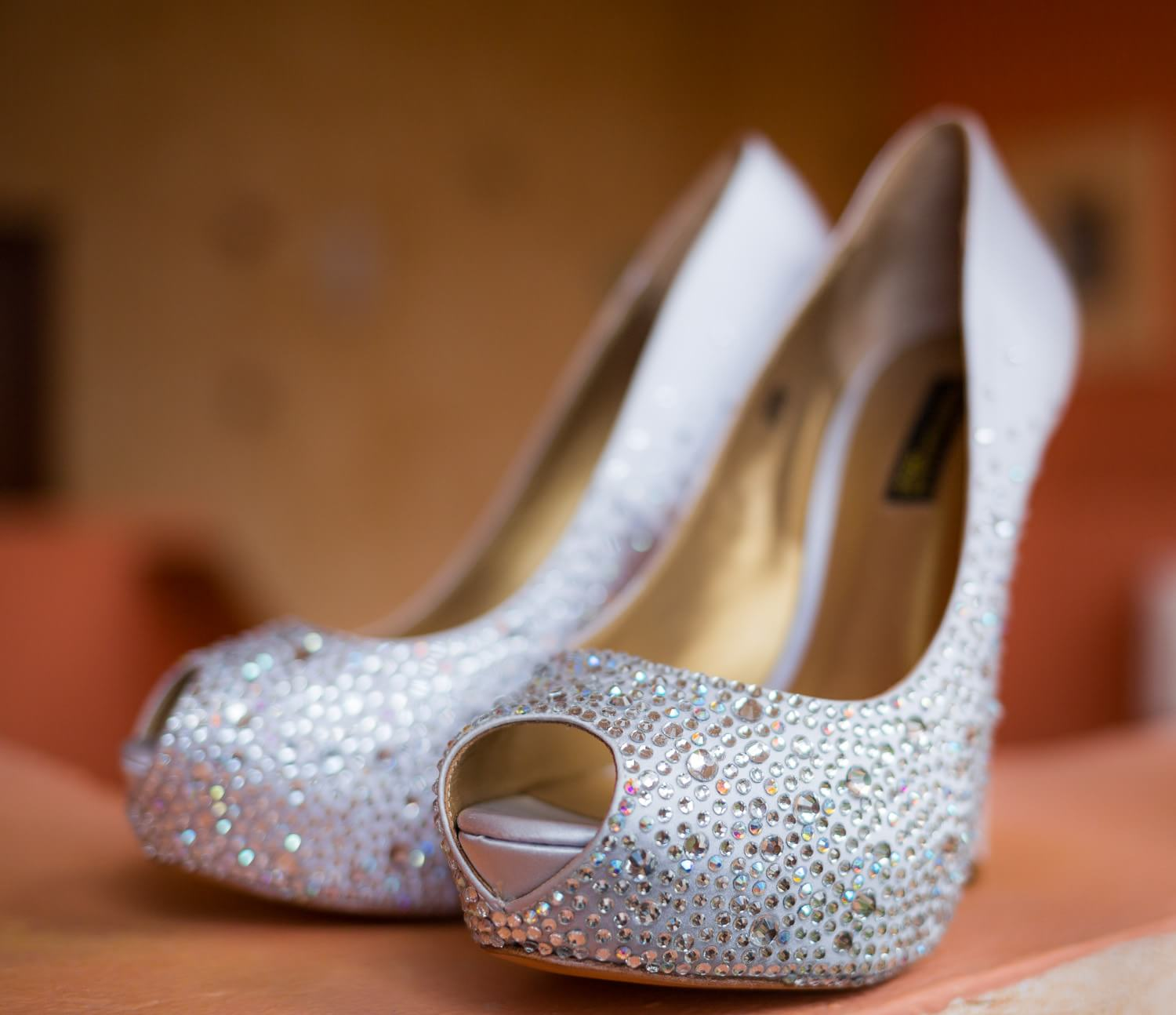 Detail of brides shoes