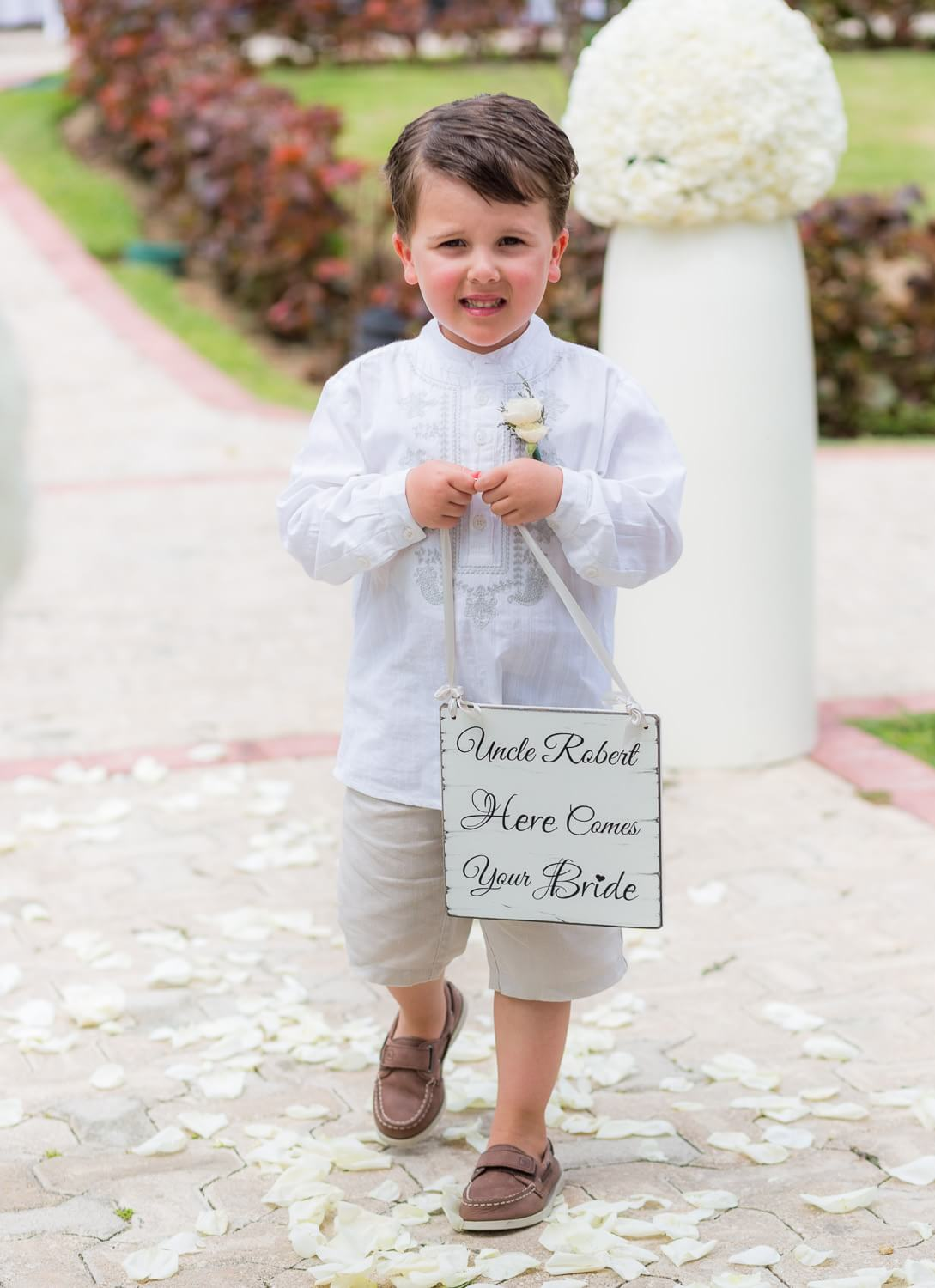 Page boy at Grand Palladium Mexico Wedding