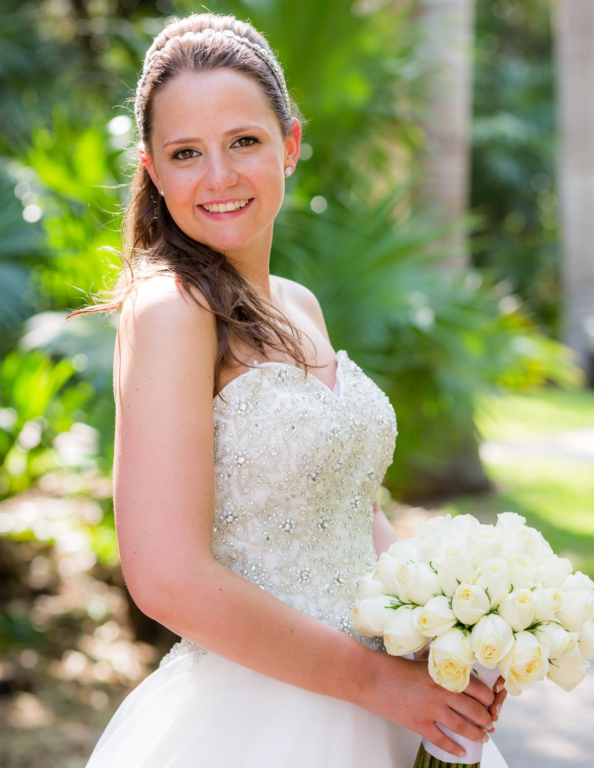 Portrait of bride at wedding