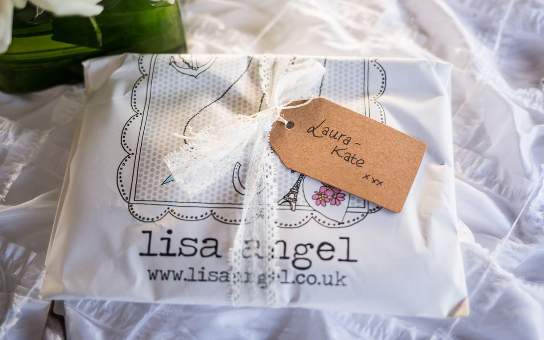 Detail of gift at wedding.