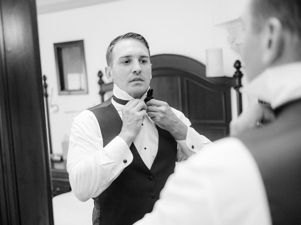groom getting ready for his Hyatt Zilara Cancun Wedding