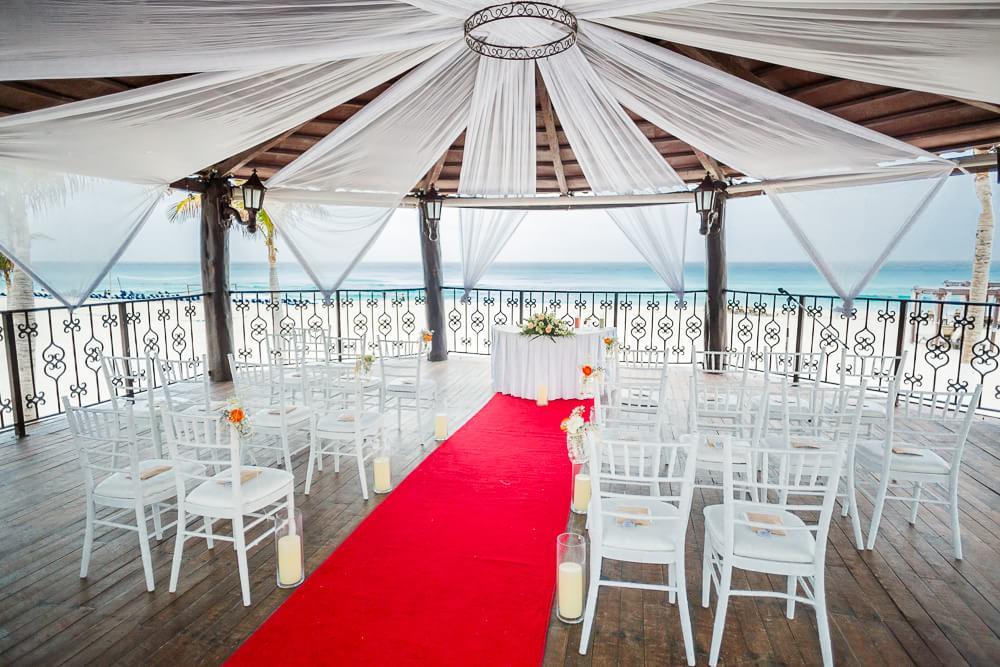 Beautiful decor at Hyatt Zilara Cancun Wedding
