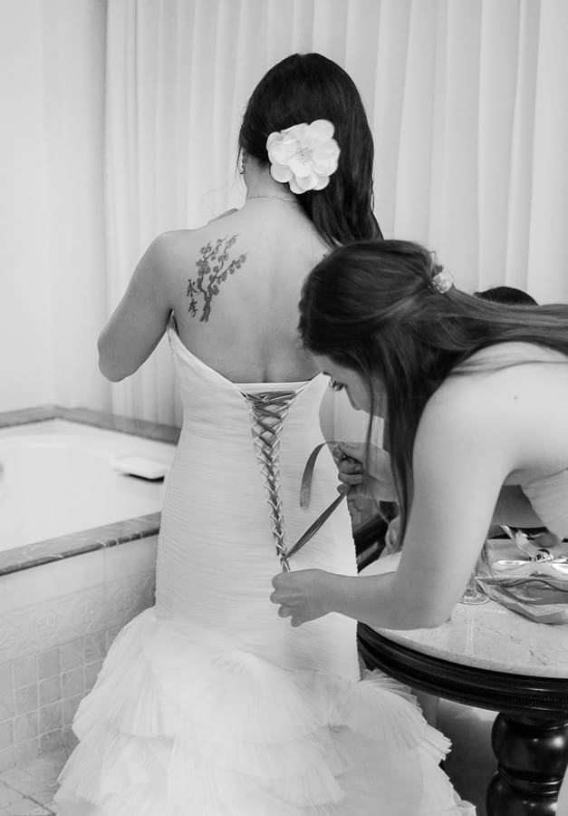 the bride getting ready for her Hyatt Zilara Cancun Wedding