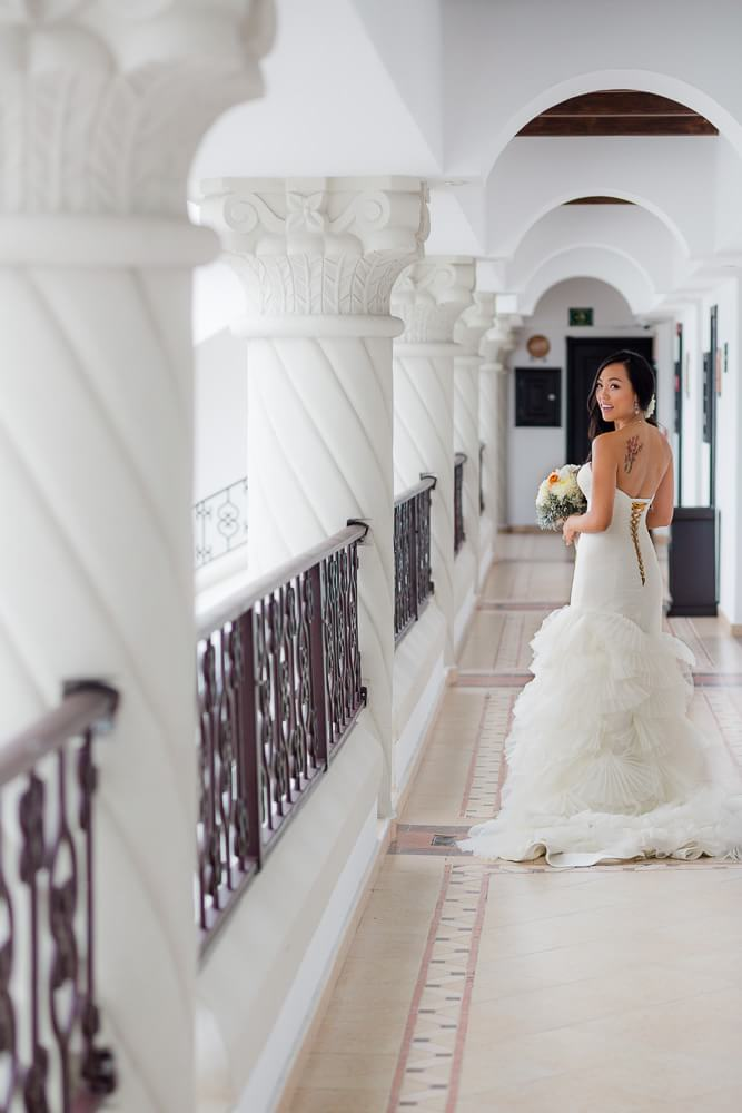 Beautiful portrait of bride at Hyatt Zilara Cancun Wedding