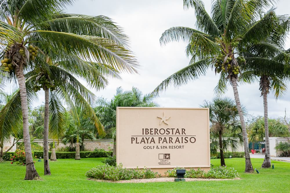Iberostar resort sign for wedding.