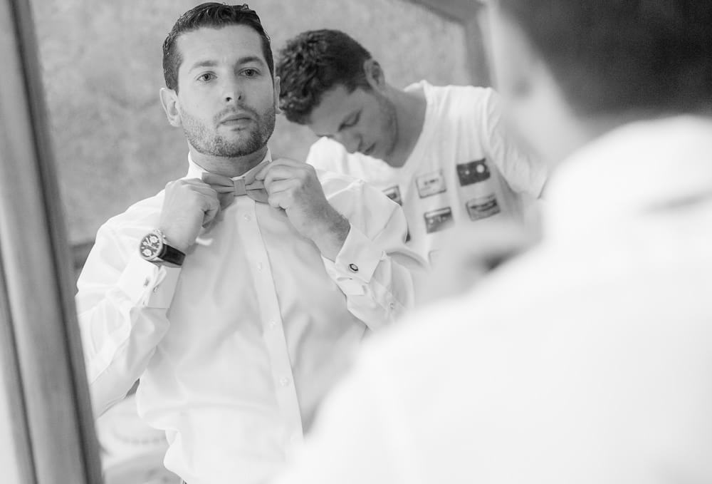 Groom getting ready at Iberostar Riviera Maya Wedding