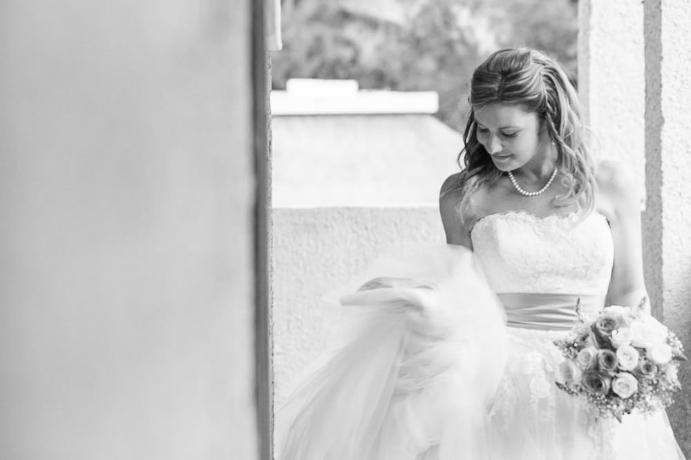 Portrait of bride at Riviera Maya wedding