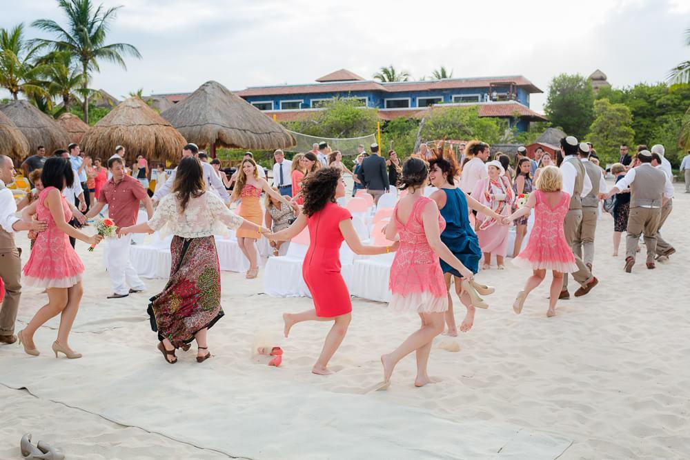 Jewish celebration at Riviera Maya wedding