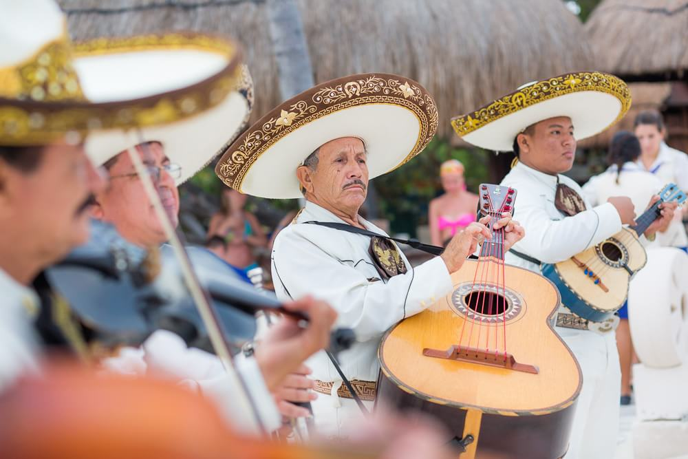 Mariachi band at Iberostar wedding