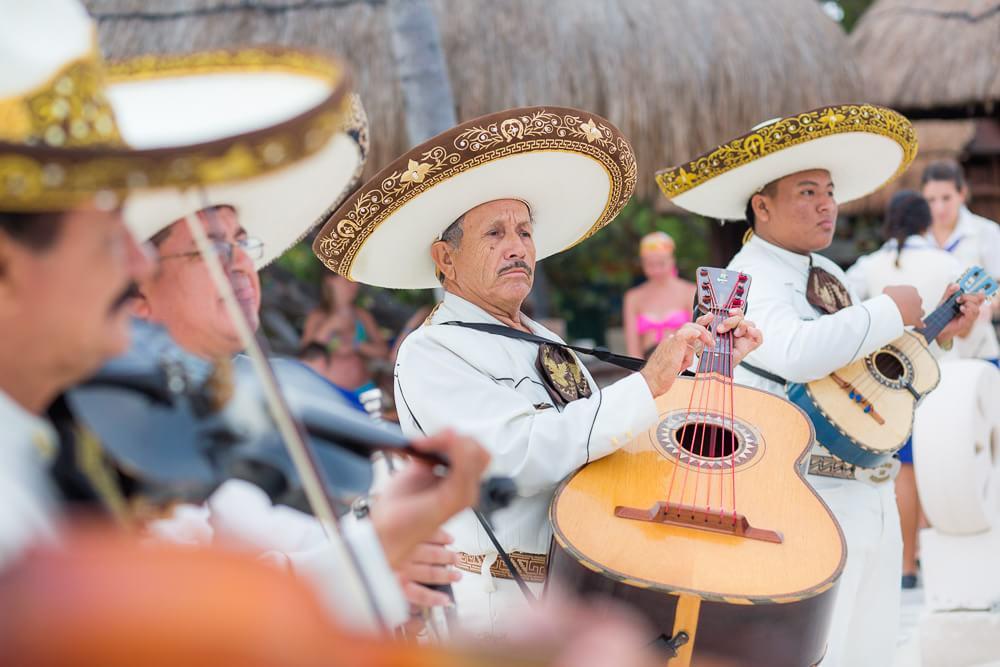Mariachi band at Iberostar wedding