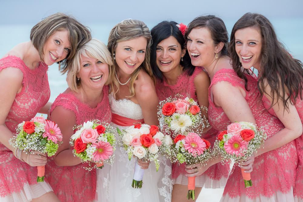 Bridesmaids at Iberostar wedding