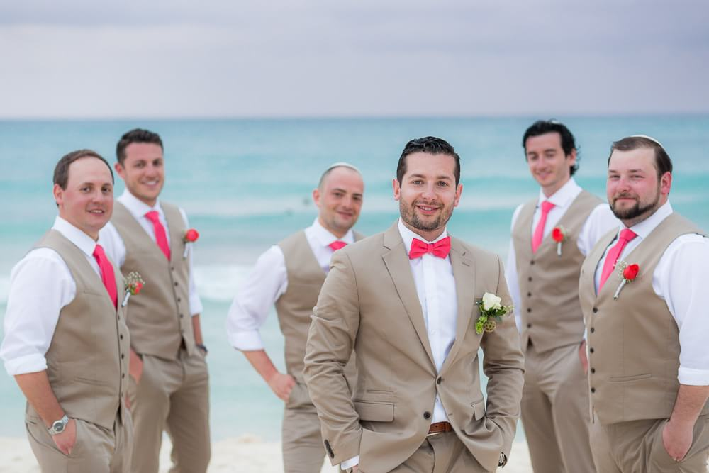 Groomsmen photo at Iberostar Riviera Maya Wedding