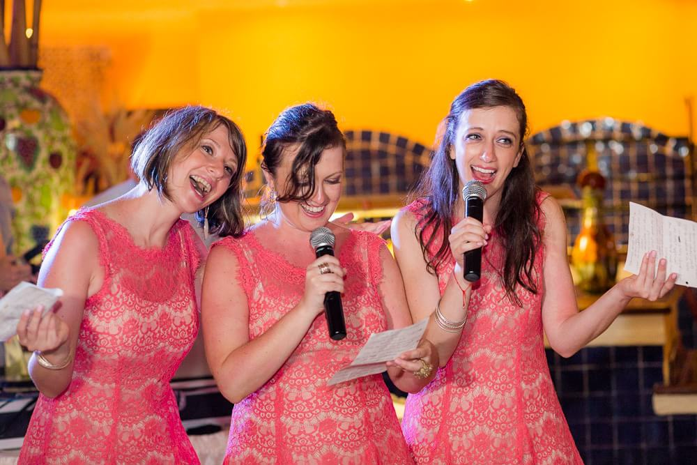 Bridesmaids speech at Riviera Maya wedding Iberostar