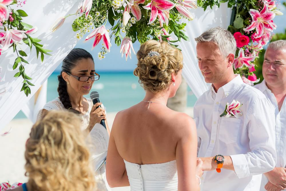 couple being married in Riviera Maya