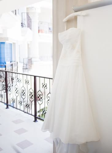 Gorgeous wedding dress detail at Royal Playa del Carmen Wedding