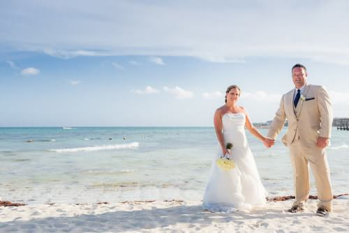 beautiful couple's portrait at Royal Playa del Carmen Wedding