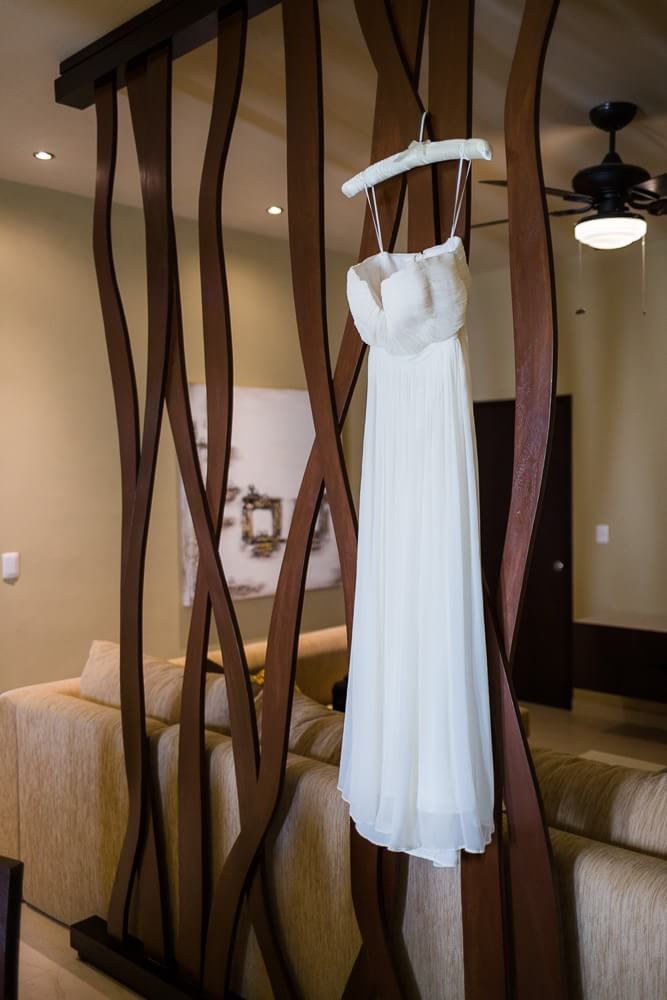 Beautiful wedding dress detail at Generations Riviera Maya Wedding Photography