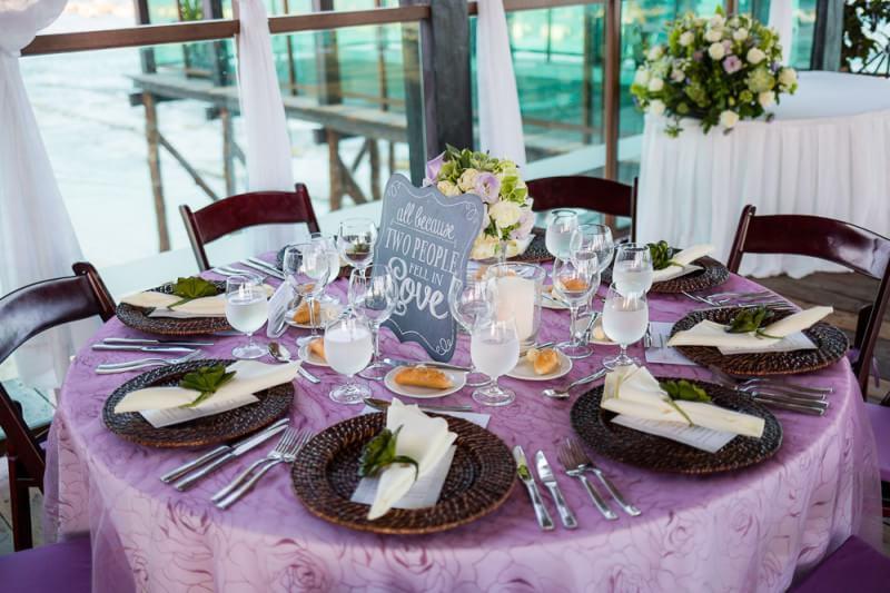 Table top at Riviera Maya Wedding