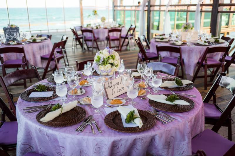 wedding tables at reception at generation resort Riviera Maya
