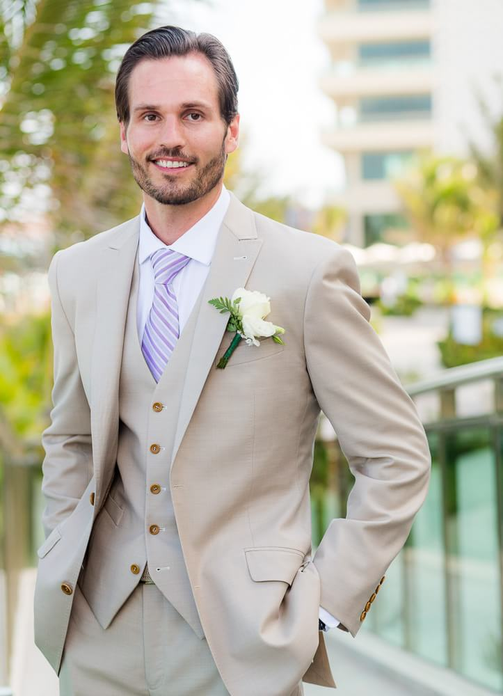 Portrait of groom at Generations Riviera Maya Wedding