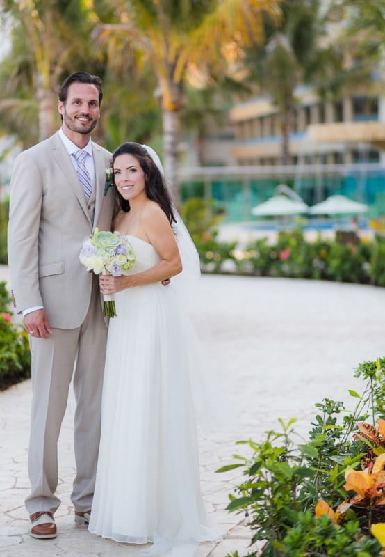 Bride and Groom at Generations Riviera Maya Wedding