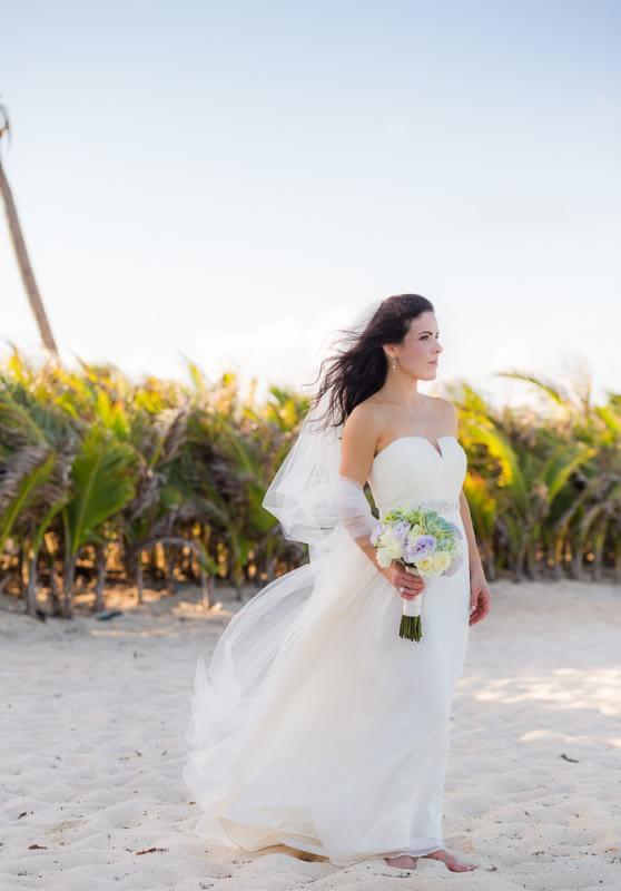 Bride at wedding in Mexico