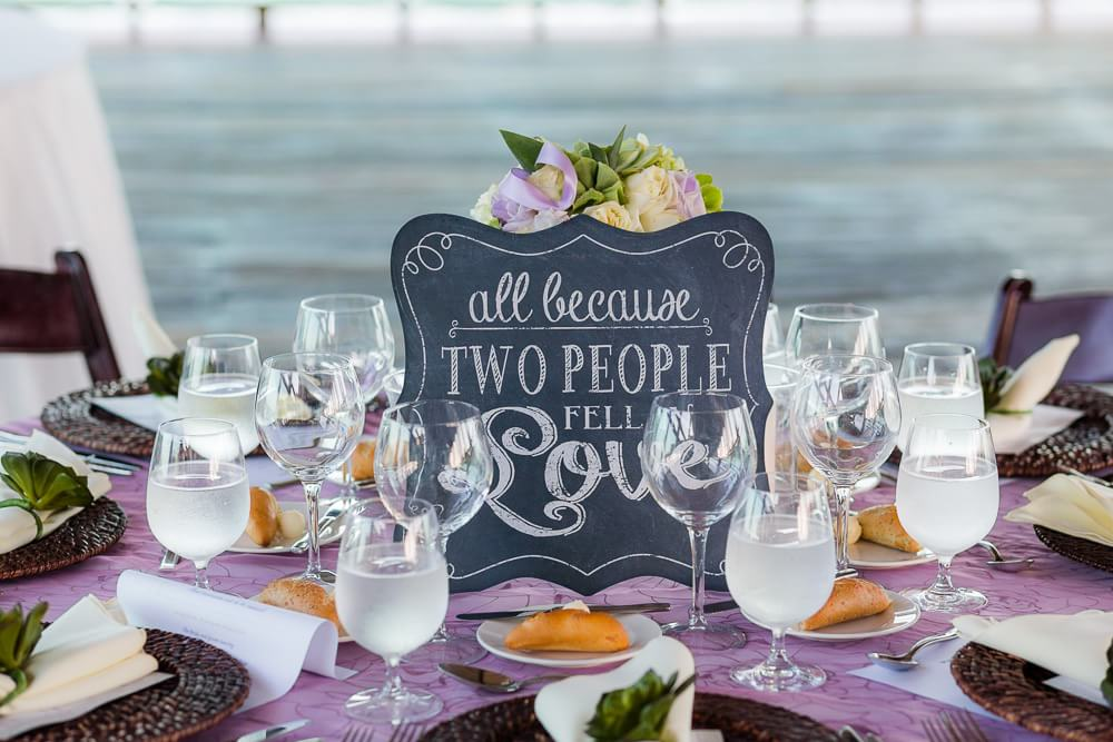 Table centres at Riviera Maya Wedding
