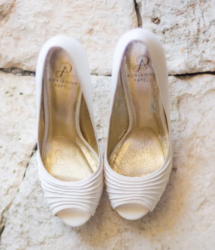 Great shoe's detail at Destination Beach Wedding at Iberostar Lindo Mexico