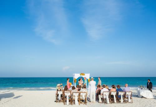 Beautiful shot at Destination Beach Wedding at Iberostar Lindo Mexico