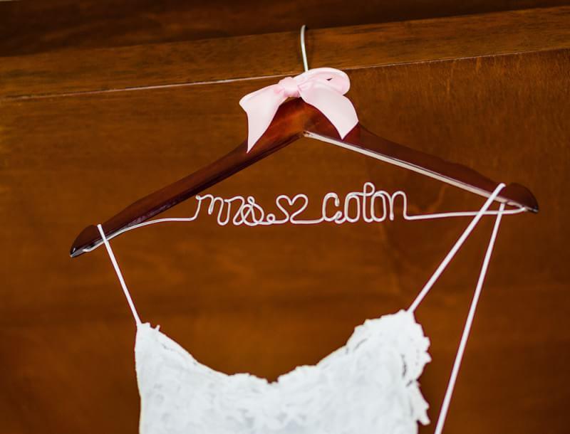 Etsy wedding hanger for your Riviera Maya Wedding
