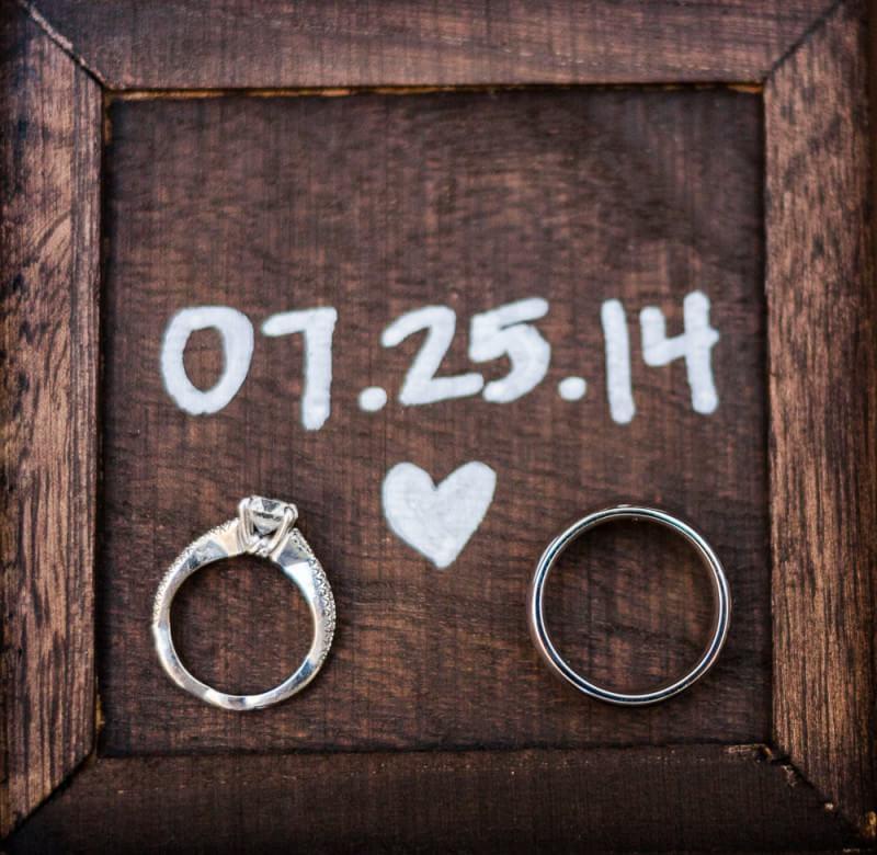 Detail of rings at Cancun Wedding