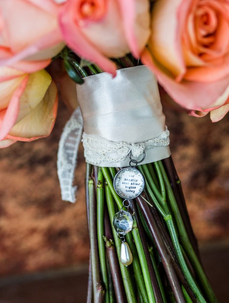 detail of wedding flowers